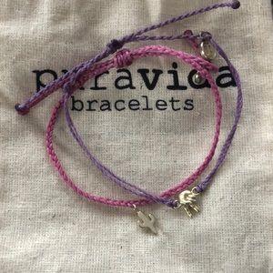 Cactus & Peace Sign Pura Vida Bracelet Bundle